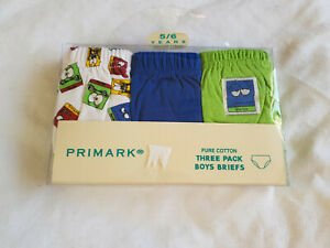 pack of 3 boys briefs new