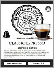 100 Nespresso capsules pods compatible FRESHLY ROASTED gourmet coffee CLASSIC