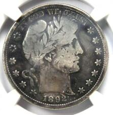 1892-S Barber Half Dollar 50C - NGC VG Details - Rare Date - Certified Coin!