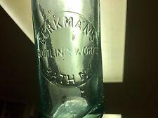 Rare Hutch Blobtop Emb. Berkmans Bottling Works Bath Ny