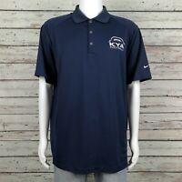 Nike Golf Dri-Fit Polo Shirt XL Men's KYA Football Youth Association Navy Blue