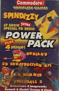 Power Pack 12 Commodore 64/128 Computer Video Game.1991 Future.Spindizzy+