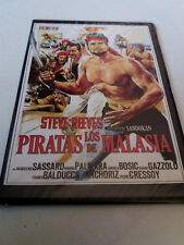 "DVD ""LOS PIRATAS DE MALASIA"" PRECINTADO SEALED CAJA SLIM UMBERTO LENZI STEVE REE"