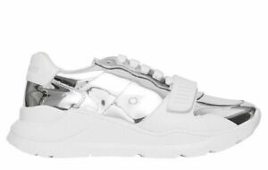 Burberry Ramsey M Silver Sneakers