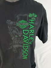 Men's Harley-Davidson Lucky Look Short Sleeve Black Cotton T-Shirt Orlando Large