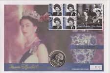 2001 Copertura MONETE QEII fatto rintracciare 75TH compleanno della Regina Gibilterra 1 110 Corona Moneta
