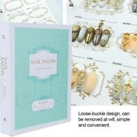 Nail Art Tips Color Chart Nail Template Display Book Card UV Gel Polish Manicure