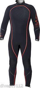 Bare 7mm Reactive Full Scuba Diving Wetsuit Men's (All Sizes) Red