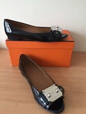 Hermes Black Flats, Size 36,5 Uk 3,5 Stunning And Rare