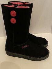 Skechers Toasty Toes Girls Boots Size 4 Black Pink