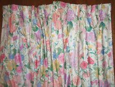 Vintage Tiffany Designer SYBIL CONNOLLY for Robert Allen Floral Drapes 3 pc Set