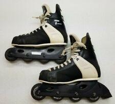 Ccm Tacks 155 Inline Roller Blades Street Hockey Skates Vintage Black Size 8