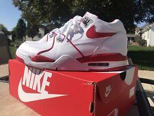 Nike Air Flight 89 LE White/University Red 819665 100 Size 12