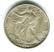 1939 D WALKING LIBERTY HALF DOLLAR UNC details ENGRAVED high grade