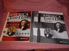 3~A Beka History~America Land I Love Books, 8th Gr., 2nd Edition, Text & Teacher