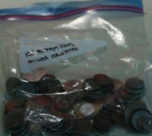 100 Mixed Country Foreign Coins