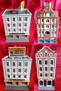 N Scale - LOT OF 4 PRE-BUILT BUILDINGS