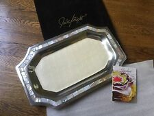 Julia Knight Serve Ware Classic Octagonal 20 Inch Mother-of-Pearl Tray New