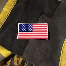 FIREFIGHTER HELMET FLAGS FIRE HELMET STICKER - American Flag