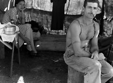 """Unemployed lumber worker security # tattooed on his Arm  14 x 11"""" Photo Print"""