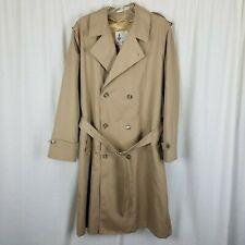 Misty Harbor Insulated Double Breasted Belted Trench Coat Mens 40L Zip Out Liner
