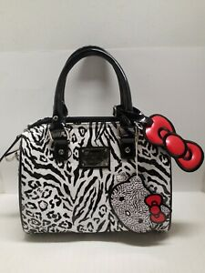 NEW Hello Kitty Black and White Leopard Embossed Mini City BagHard to Find