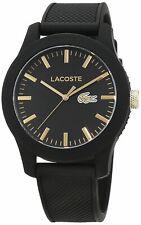 New Lacoste Men's 12.12 Analog Display Japanese Quartz Black Watch 2010818