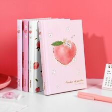 """Peach Bunny Hardcover"" Journal Diary Cute Notebook Girls Study Notepad Planner"