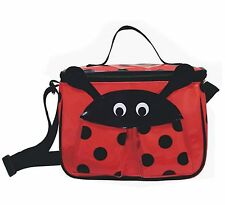Ladybug Lunch Box Back to School Snack Bag by Sassafras Insulated Easy Clean FUN