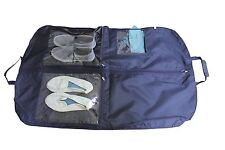 "Strong Black & Navy 44"" Nylon Travelling Men Suit Carrier Bag with Extra Pockets"