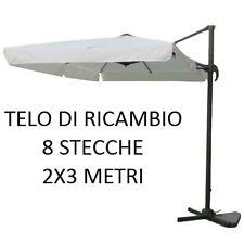 TOP TELO RICAMBIO OMBRELLONE DECENTRATO ALLUMINIO 2X3 METRI CON AIRVENT BIANCO