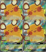 4x Dedenne GX 195a/214 Full Art Playset from Pokemon Trainer's Toolkit Near Mint