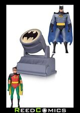 BATMAN La Serie Animata Batman E Robin con Bat-segnale due FIGURA PACK