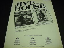 LIZ TORRES and MR. LEE Jive Is In The House 1989 PROMO POSTER AD mint condition