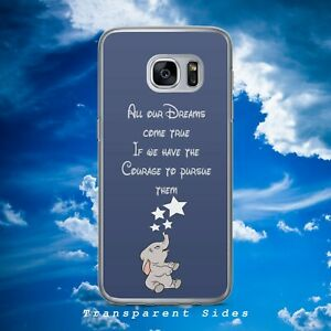 DISNEY DUMBO ELEPHANT DREAMS QUOTE HARD PHONE CASE COVER FOR SAMSUNG HUAWEI
