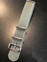 NEW Frederique Constant 20mm Green Canvas Nylon Watch Strap Band Silver Buckle