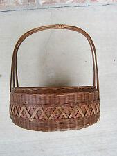 Vintage Basket w/ Handle Basket Wicker Crafts Home Decor Floral Primatives