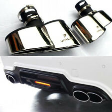 A Pair Dual Exhaust Muffler For BENZ W204 W221 CLS218 Car 4 Tip Rear Decorations