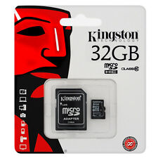 Kingston Micro 32GB SD SDHC memory Card Class 10 Memory with SD card Adapter