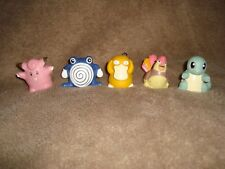 1999 Oddzon rollerball Pokemon lot Poliwhirl,Clefairy,Squirtle,Pidgeotto,Psyduck