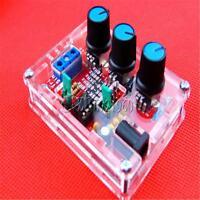 XR2206 Function Signal Generator DIY Kit Sine Triangle Square 1HZ-1MHZ +Case