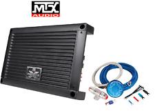 MTX XTHUNDER1200.1 1200W RMS Mono Block Class D Amplifier STREETWIRES 4GA KIT