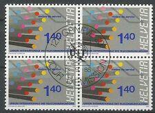 Suisse 1988 S 466 ° UIT Télécommunications Fibres optiques