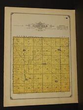 Minnesota Lac Qui Parle County Map Garfield Township  1913  W3#13