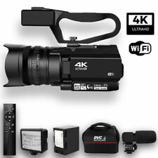 4K Ultra HD 48MP Video Camera 30X Digital  Zoom Wifi Touch Screen Camcorder