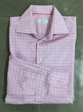 NWOT Eton Sweden Contemporary Slim Fit Dress Dress Pink Shirt 40 15.75 35 $280