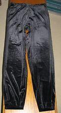 "Ralph Lauren Women's Elastic Waist Black Velour Pants Size L - Inseam 31.5""- EUC"
