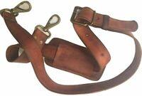 "Vintage Tan Leather 1"" Shoulder Strap Replacement for Handbags Laptop Briefcase"