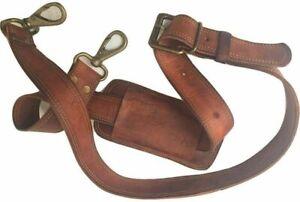 Handmade Vintage Leather Shoulder Replacement strap for messenger Briefcase bag