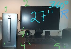 Bundle deal- All in one HP i7  8 threads 3.60GHz and come with monitor and more